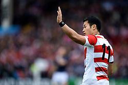 Kenki Fukuoka of Japan - Mandatory byline: Patrick Khachfe/JMP - 07966 386802 - 23/09/2015 - RUGBY UNION - Kingsholm Stadium - Gloucester, England - Scotland v Japan - Rugby World Cup 2015 Pool B.