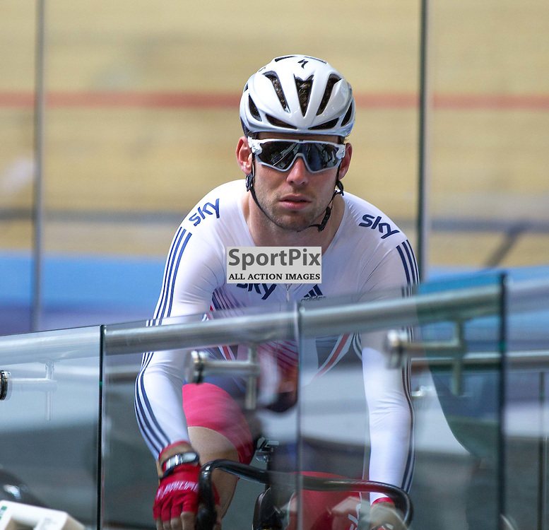 Mark Cavendish waits for the start of the Men's Omnium at the Revoultion Series 2015/6 Round 1 Derby, Day 2, on 15 August 2015 ( (Photo by Mike Poole - Photopoole)