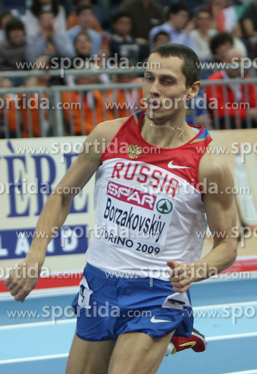 Yuriy Borzakovskiy of Russia at 800m men run at the 1st day of  European Athletics Indoor Championships Torino 2009 (6th - 8th March), at Oval Lingotto Stadium,  Torino, Italy, on March 6, 2009. (Photo by Vid Ponikvar / Sportida)