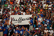17-18 August, 2012, Montreal, Quebec, Canada.Jacques Villeneuve fans show disappointment at his late race misfortune. .(c)2012, Jamey Price.LAT Photo USA.