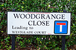 © Licensed to London News Pictures. 10/01/2014 Harrow, UK. A general view of the Woodgrange Close sign, Harrow where the bodies of  a 33-year-old woman, a five-year-old boy and  a seven month old boy have been found in a ground floor flat. The deaths of the two children are being treated as murder the woman's death is not being treated as suspicious at this stage. Photo credit : Simon Jacobs/LNP