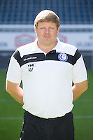 Gent's head coach Hein Vanhaezebrouck pictured during the 2015-2016 season photo shoot of Belgian first league soccer team KAA Gent, Saturday 11 July 2015 in Gent.