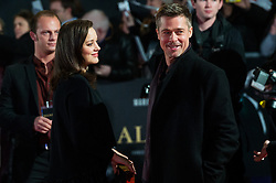 © Licensed to London News Pictures. 21/11/2016. MARION COTILLARD and BRAD PITT attend the Allied UK film premiere. It follows two assassins who fall in love during a mission to kill a Nazi official during World War II. London, UK. Photo credit: Ray Tang/LNP