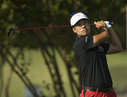May 25, 2018 - Fort Worth, TX, USA - FORT WORTH, TX - MAY 25, 2018 - Kevin Na tees off on the the 7th hole during the second round of the 2018 Fort Worth Invitational PGA at Colonial Country Club in Fort Worth, Texas (Credit Image: © Erich Schlegel via ZUMA Wire)