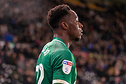 Moses Odubajo (22) during the EFL Sky Bet Championship match between Derby County and Sheffield Wednesday at the Pride Park, Derby, England on 11 December 2019.