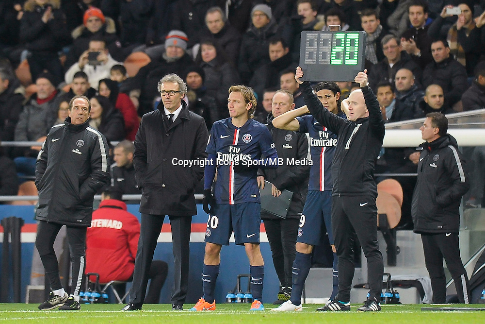 Laurent Blanc / Clement Chantome / Edinson Cavani - 06.12.2014 - PSG / Nantes - 17eme journee de Ligue 1<br />Photo : Andre Ferreira / Icon Sport