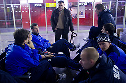 Samir Handanovic, Dejan Stefanovic, Valter Birsa, Andraz Kirm at airport Shermetjevo after the FIFA World Cup South Africa 2010 Qualifying play-off match between Russia and Slovenia,  on November 14, 2009, in Moscow, Slovenia.   (Photo by Vid Ponikvar / Sportida)