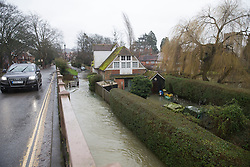Flooding at Goring on Thames, Oxfordshire United Kingdom, Tuesday, 11th February 2014. Picture by i-Images