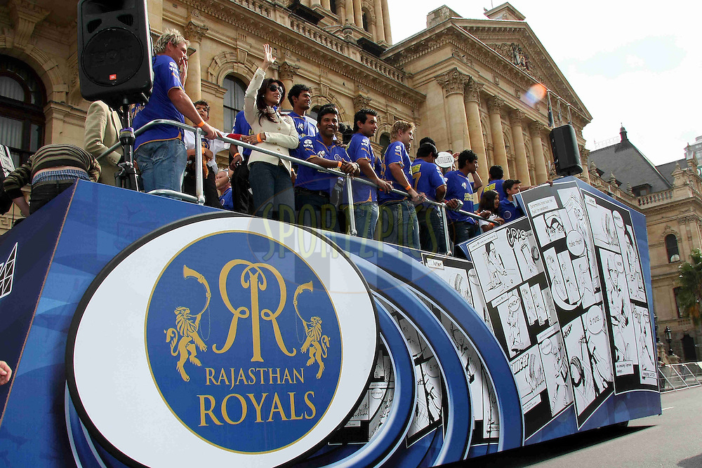 CAPE TOWN, SOUTH AFRICA - 16 April. GV of team float during the IPL Team Parade and Carnival through the streets of Cape Town held to launch the IPL Season two which is being held in South Africa between the 18 April and 24th May 2009..