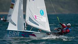 2012 Olympic Games London / Weymouth<br /> 470 men race course<br /> Bithell Stuart, Patience Luke, (GBR, 470 Men)