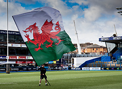 A general view of Cardiff Arms Park, banner, flag<br /> <br /> Photographer Simon King/Replay Images<br /> <br /> Six Nations Round 5 - Wales Women v Ireland Women- Sunday 17th March 2019 - Cardiff Arms Park - Cardiff<br /> <br /> World Copyright © Replay Images . All rights reserved. info@replayimages.co.uk - http://replayimages.co.uk