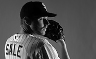 GLENDALE, ARIZONA - FEBRUARY 27:  Chris Sale of the Chicago White Sox poses for a portrait during White Sox photo day on February 27, 2016 at Camelback Ranch in Glendale Arizona.  (Photo by Ron Vesely)