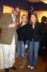 Left to right, WILLIE STIRLING, LAURA PARKER BOWLES and MOLLY BECKETT at an exhibition of portraits by Charmian Campbell held at Lucy B Campbell Fine Art, 123 Kensington Church Street, London W8 on 8th February 2005.<br /><br />NON EXCLUSIVE - WORLD RIGHTS