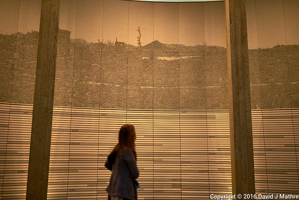 Display of Ground Zero at the Hiroshima Peace Museum. Image 10 of 19 taken with a Fuji X-T1 camera and 23 mm f/1.4 lens (ISO 800, 23 mm, f/1.4, 1/30 sec).