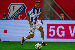 "Chidera Ejuke #8 of Heerenveen in action. FC Utrecht convincingly won the practice match against sc Heerenveen. The ""Domstedelingen"" were too strong for SC Heerenveen in Stadium Galgenwaard with 4-1<br /> on August 20, 2020 in Utrecht, Netherlands"