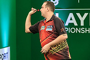 Kim Huybrechts during the PDC Darts Players Championship at  at Butlins Minehead, Minehead, United Kingdom on 24 November 2017. Photo by Shane Healey.