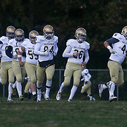 Salesianum take the field for the start of second half Saturday, Oct. 17, 2015 at Concord Stadium in Wilmington.
