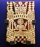 Pilgrim badge, of lead alloy. 1300-1400. Depicts the shrine of St. Thomas Becket.