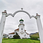 The Russians arrived in Dutch Harbor in 1759 to trade with the nearly 1,000 Aleuts that lived there.  This is the Russian Orthodox Church of the Holy Ascension.