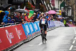 Leah Thomas (USA) at UCI Road World Championships 2019 Elite Women's TT a 30.3 km individual time trial from Ripon to Harrogate, United Kingdom on September 24, 2019. Photo by Sean Robinson/velofocus.com