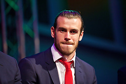 CARDIFF, WALES - Wednesday, June 1, 2016: Wales' Gareth Bale during a Q&A at a charity send-off gala dinner at the Vale Resort Hotel ahead of the UEFA Euro 2016. (Pic by David Rawcliffe/Propaganda)