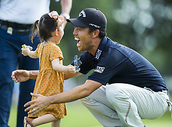 May 26, 2019: Fort Worth, Texas, U.S.: KEVIN NA celebrates with his daughter, Sophia, on the 18th green after winning the Charles Schwab Challenge at Colonial Country Club. (Credit Image: © Erich Schlegel/ZUMA Wire)