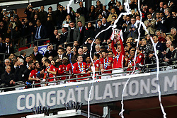 Zlatan Ibrahimovic of Manchester United lifts the EFL Trophy - Mandatory by-line: Matt McNulty/JMP - 26/02/2017 - FOOTBALL - Wembley Stadium - London, England - Manchester United v Southampton - EFL Cup Final