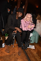 Mason Smillie and India Rose James at PPQ LFW Autumn Winter 2017 show, Crypt on the Green, Clerkenwell, London England. 17 February 2017.