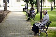 Turkije, Istanbul, 4-6-2011Studenten in het park van de universiteit van Istanbul.Foto: Flip Franssen