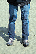 we we're almost marooned on an island by the tide! hence the wet jeans!