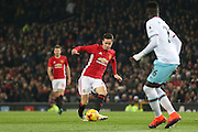 Ander Herrera Midfielder of Manchester United during the EFL Cup Quater-Final between Manchester United and West Ham United at Old Trafford, Manchester, England on 30 November 2016. Photo by Phil Duncan.