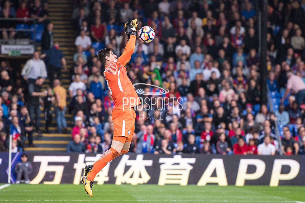 Chelsea (13) Thibaut Courtois during the Premier League match between Crystal Palace and Chelsea at Selhurst Park, London, England on 14 October 2017. Photo by Sebastian Frej.