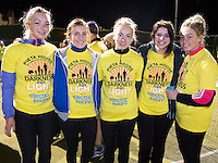 Andrea Lally, Aine McCarthy, Ciara Donohoe, Orla Dooley and Aoife Donohue at the Kinvara Darkness into Light walk in Kinvara in aid of Pieta House  :<br />  Photo:Andrew Downes, XPOSURE