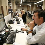 Groupon's headquarters in the former Montgomery Wards' catalog warehouse,  Tuesday August 31, 2010.  Jose More Photography..