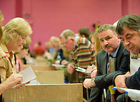 Candidate Thomas Welby at the Count centre at Leisureland, Salthill, Galway for the Galway West count. Photo:Andrew Downes