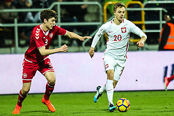November 14, 2017 - Gdynia, Poland - Robert Gumny (POL), Jacob Rasmussen (DEN) during UEFA U21 Championship Qualifier match between Poland and Denmark on November 14, 2017 in Gdynia, Poland. (Credit Image: © Foto Olimpik/NurPhoto via ZUMA Press)