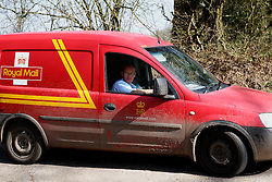 UK ENGLAND BERKSHIRE CHAPEL ROW 23MAR11 - Royal Mail employee Ryan Naylor leaves the Middleton driveway on his daily round of mail deliveries...jre/Photo by Jiri Rezac..© Jiri Rezac 2011
