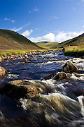 Clunie Water River in Glen Clunie, Perthshire, Scotland, United Kingdom