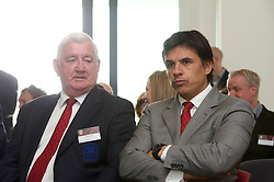 NEWPORT, WALES - Saturday, April 20, 2013: Wales manager Chris Coleman and Phil Pritchard at the opening of the FAW National Development Centre in Newport. (Pic by David Rawcliffe/Propaganda)