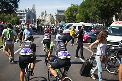 Giorgia Bronzini (ITA) of Cylance Pro Cycling rolls to the start of Stage 2 of the Madrid Challenge - a 100.3 km road race, starting and finishing in Madrid on September 16, 2018, in Spain. (Photo by Balint Hamvas/Velofocus.com)