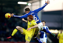 Rory Gaffney of Bristol Rovers watches the ball come over Ian Evatt of Chesterfield - Mandatory by-line: Robbie Stephenson/JMP - 26/11/2016 - FOOTBALL - The Proact Stadium - Chesterfield, England - Chesterfield v Bristol Rovers - Sky Bet League One