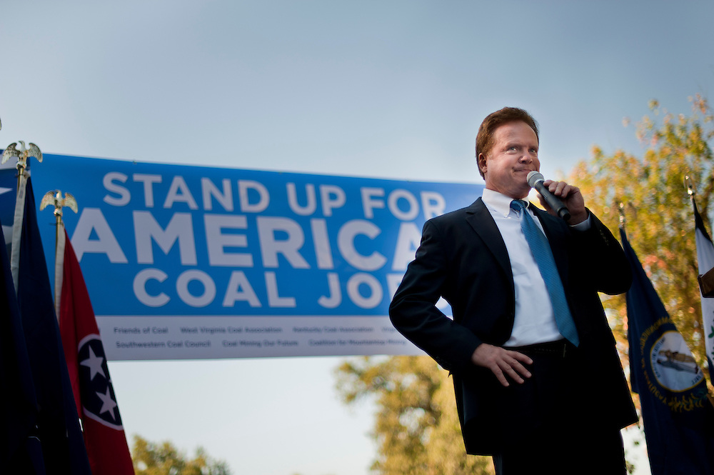"Sep 15, 2010 - Washington, District of Columbia, U.S., - The Federation for American Coal, Energy and Security held a ""Rally for American Coal Jobs"" at the U.S. Capitol in Washington, D.C. on Wednesday. PICTURED: Senator JIM WEBB (D-VA) speaks to the crowd.(Credit Image: © Pete Marovich/ZUMA Press)"