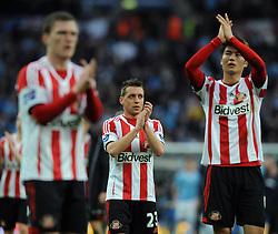 Sunderland's Emanuele Giaccherini cuts a dejected figure after losing to Manchester City in the Capital One Cup Final - Photo mandatory by-line: Dougie Allward/JMP - Tel: Mobile: 07966 386802 02/03/2014 - SPORT - FOOTBALL - London - Wembley Stadium - Manchester City v Sunderland - Capital One Cup Final