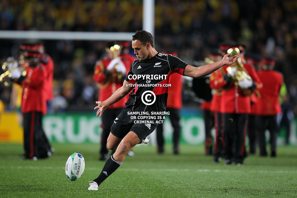 AUCKLAND, NEW ZEALAND - OCTOBER 16, Israel Dagg during the 2011 IRB Rugby World Cup Semi Final match between New Zealand and Australia at Eden Park on October 16, 2011 in Auckland, New Zealand<br /> Photo by Steve Haag / Gallo Images