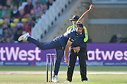 Ravi Bopara following through during the Natwest T20 Blast quarter final match between Nottinghamshire County Cricket Club and Essex County Cricket Club at Trent Bridge, West Bridgford, United Kingdom on 8 August 2016. Photo by Simon Trafford.