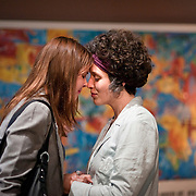 """April 6, 2011 - New York, NY : Anna Stromberg, left, and Mara Lileas perform as Jackie Goldstein and Contessa Springs in The Amoralists' world premiere of Derek Ahonen's """"Bring Us the Head of Your Daughter"""" at Performance Space 122 on Wednesday evening.<br /> <br /> CREDIT: Karsten Moran for the New York Times"""