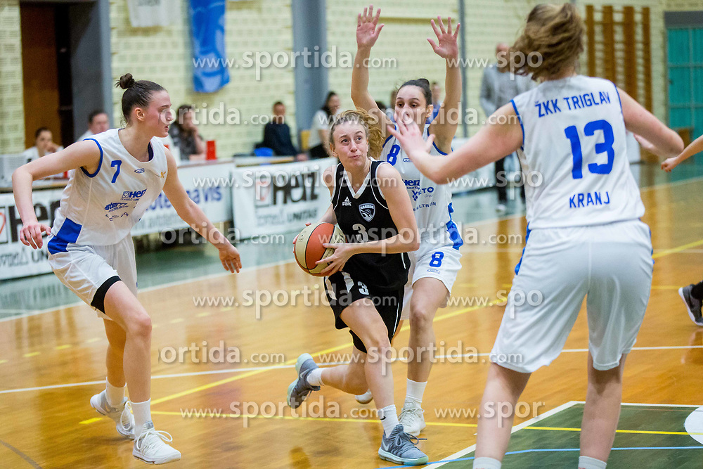 Tjasa Galic of ZKK Maribor during basketball match between ZKK Triglav Kranj and ZKD Maribor in Round #1 of 1. Slovenian Woman basketball league, on February 20, 2018 in ŠD Planina, Kranj, Slovenia. Photo by Ziga Zupan / Sportida