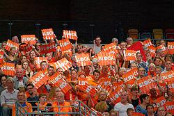 21-09-2019 NED: EC Volleyball 2019 Netherlands - Germany, Apeldoorn<br /> 1/8 final EC Volleyball / Support, spectators, Orange