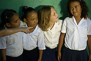 Fundacion Progreso Guanacaste  has adopted 40 elementary schools, and based on needs, has built new classrooms, functioning bathrooms, or cafeterias. Pictured: Children enjoy another day at school in Guanacaste rural areas.