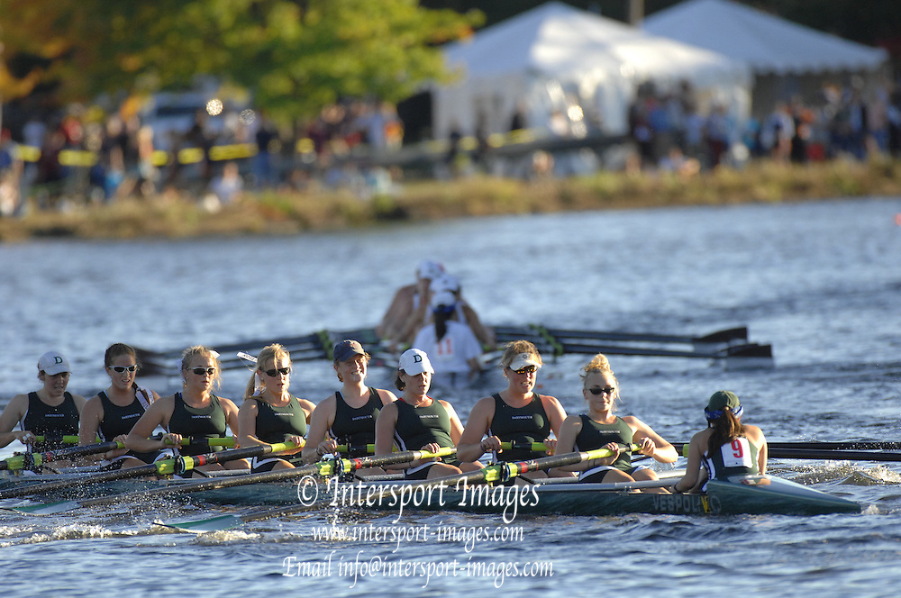 Boston, USA, Championship Women's Eights, Dartmouth Rowing Club, pass, Belmont Hill - Winsor Boathouse,  Head of the Charles, Race Charles River,  Cambridge,  Massachusetts. Saturday  20/10/2007 [Mandatory Credit Peter Spurrier/Intersport Images]..... , Rowing Course; Charles River. Boston. USA